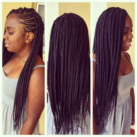 box braids with the front braided to the scalp 40 stunning badass jumbo box braids styles in 2017
