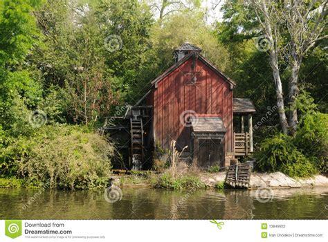 mill stock photo image  shed watermill water