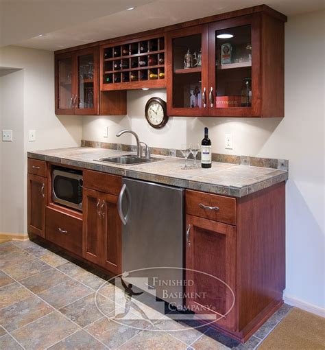 Basement Kitchen Design Basement Walk Up Bar Traditional Basement Minneapolis By Finished Basement Company