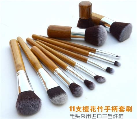 Kuas Make Up Satu Set cosmetic make up brush 11 set with pouch kuas make up