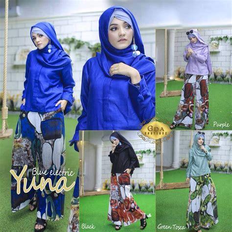 butik busana muslim terbesar dan terlengkap baju muslim terbaru yuna set by gda