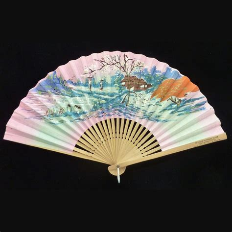 blevins funeral home folding fan circa 1960 s from