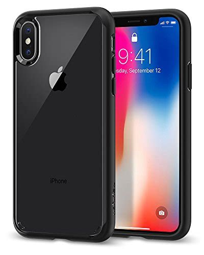 Asenaru Iphone X Slim Classic Matte Black spigen ultra hybrid iphone x with air cushion technology and hybrid drop protection for
