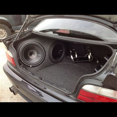 Handcrafted Car Audio - custom car stereo trunk install jl audio subwoofers on the