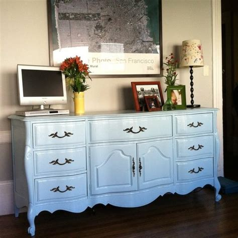 Light Blue Dresser by Light Blue Refinished Dresser Diy Popsugar Home