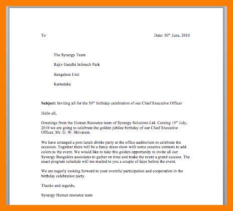 invitation letter birthday sle 5 invitation letter for birthday to friend park attendant