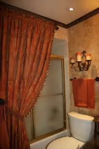 bathroom ideas with shower curtain tuscany shower curtain world styled bathroom