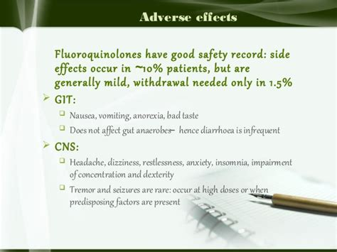 Cipro Detox Side Effects by Fluoroquinolones
