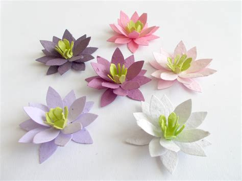 Lotus With Paper - 50 paper lotus flowers eco friendly wedding and by