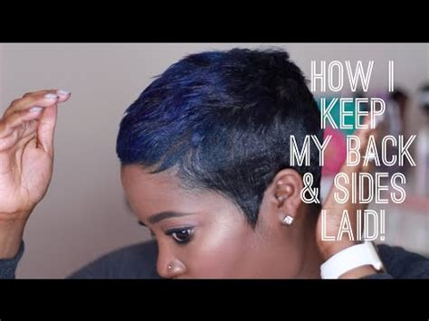 how to mold short hair short hair how i keep my back sides laid