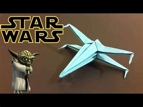 Origami X Wing Easy - how to make an easy origami x wing doovi