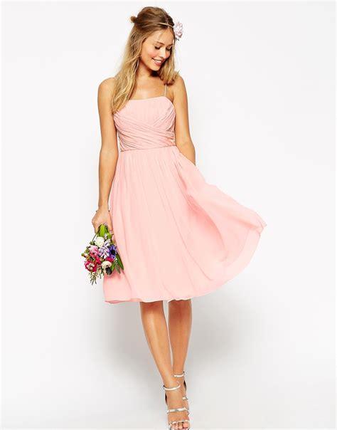Bridesmaid Dresses Australia Asos - asos wedding midi dress with ruched wrap front from asos