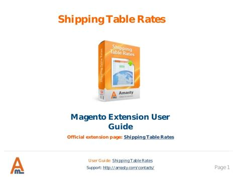 shipping table rates magento extension by amasty user guide