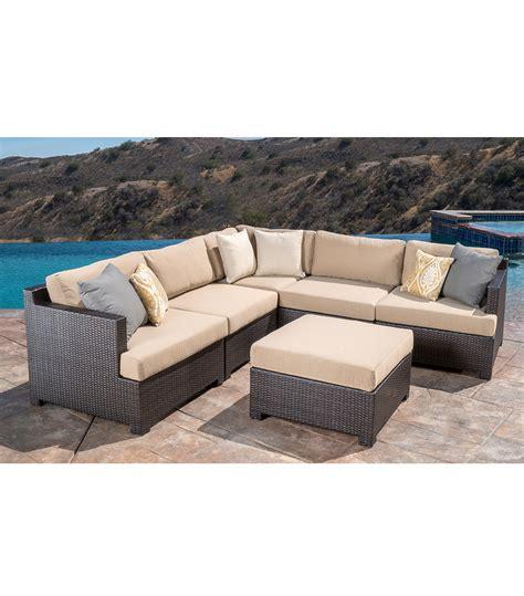 patio furniture belmont 6 piece modular sectional set