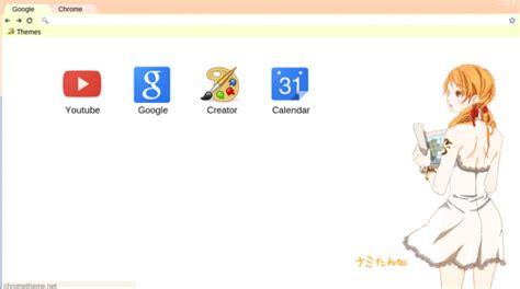 themes google chrome one piece one piece nami theme chrome theme themebeta