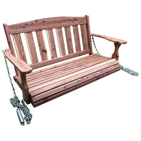 pourch swings amerihome usa amish made cedar porch swing porch swings