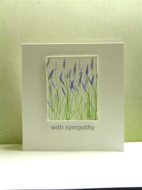 Handmade Sympathy Card - handmade sympathy card the handmade card