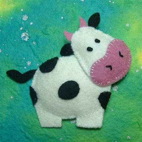 vacas en firltro vaca broches de fieltro ideas y trucos para broches de