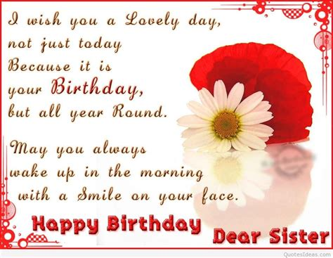 Happy Birthday Dear Quotes Happy Birthday Dear Sister Quotes