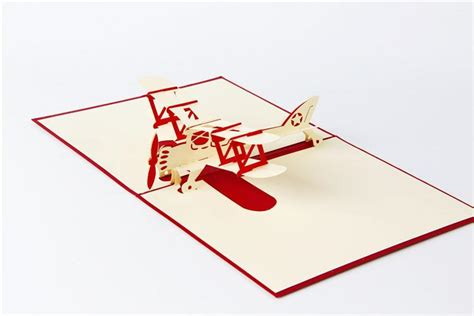 templates for handmade airplane 3d pop up card 3d handmade pop up greeting cards plane design thank you
