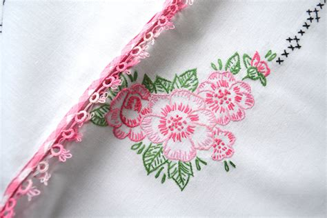 Vintage Embroidered Tablecloth Antique By Greysquirrelantiques Vintage Table Cloth