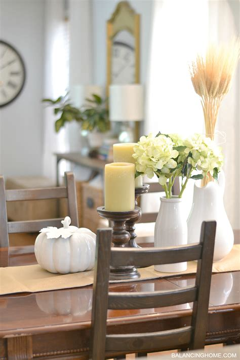 dining room table accents fall dining room table decorating ideas with traditional