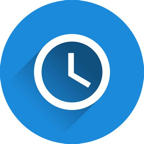 Time Blue image vectorielle gratuite temps moment de horloge