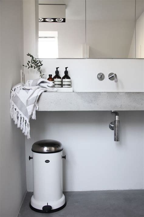 designer bathroom bin best 25 concrete sink bathroom ideas on pinterest