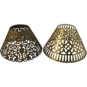 metal l shades pair of vintage pressed metal l shades sold on ruby