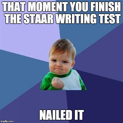Staar Test Meme - success kid meme imgflip