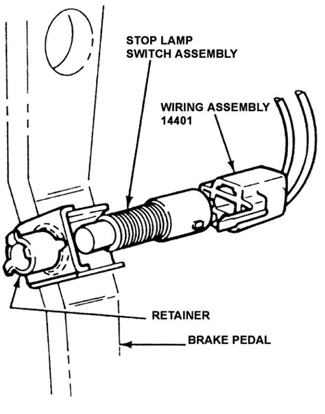 brake light switch autozone repair guides brake system brake light switch