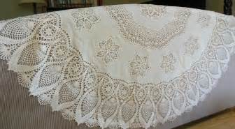 vinyl plastic lace tablecloth 60 crocheted look