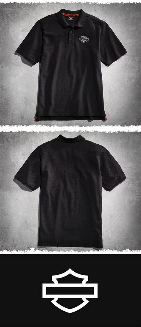 Polo Shirt Kaos Berkerah Harley Davidson black sleeve knit polo shirt polo shirts and harley davidson