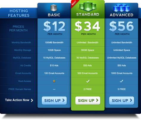 pricing table template pricing table psd template graphicsfuel