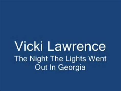 The Lights Went Out In by Vicki The The Lights Went Out In
