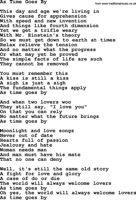 song by willie nelson song as time goes by lyrics