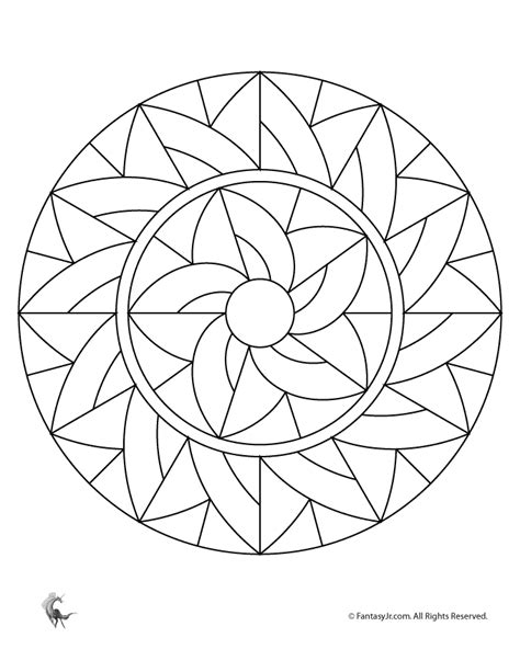 mandala art coloring pages easy simple mandala designs coloring home