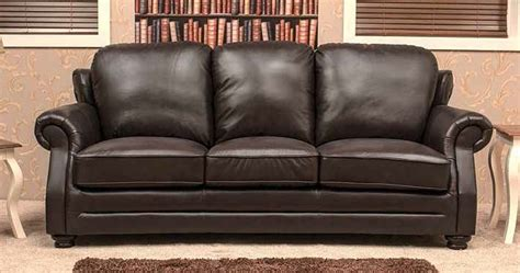 three seater settees belfry 3 seater leather sofa settee chestnut or dark brown