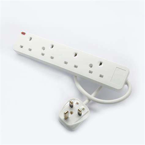 Travel Extension Adaptor 4usb Port 1 to 6way switched multi socket extension adaptor anti surge neon usb port ebay