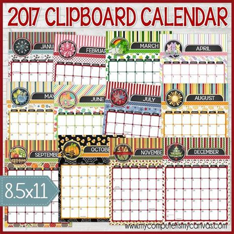 decorative calendar template 17 best ideas about decorative clipboards on