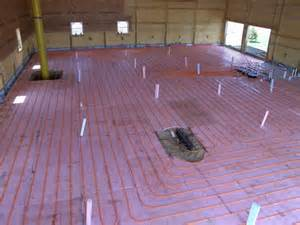 Insulate Pole Barn Viewing A Thread In Floor Heating For Shop Floor