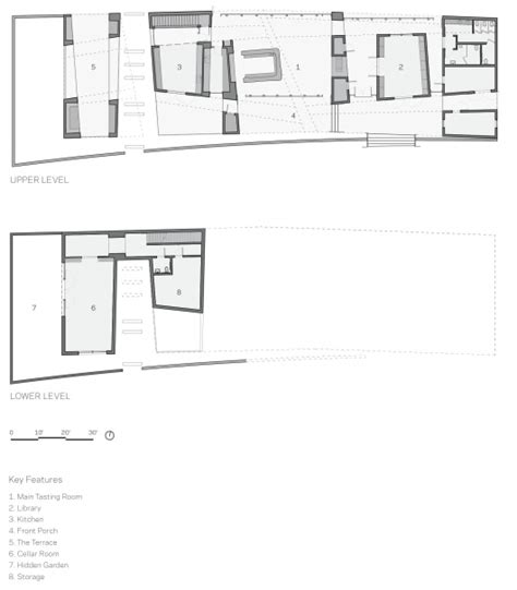 winery floor plans tasting room at sokol blosser winery allied works architecture archdaily