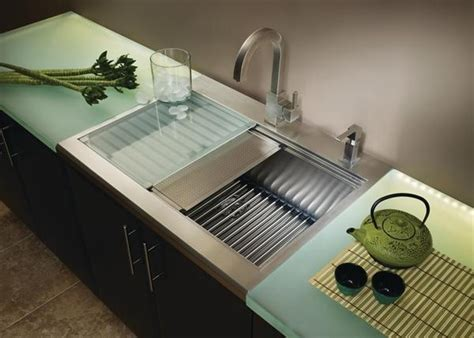 Kitchen Sink With Drainer Board American Standard Undermount Single Basin Sink Prevoir Has Great Accessories Like Cutting