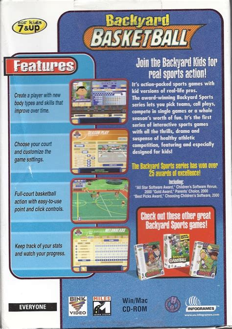 backyard basketball 2001 100 backyard sports games amazon com gosports 3
