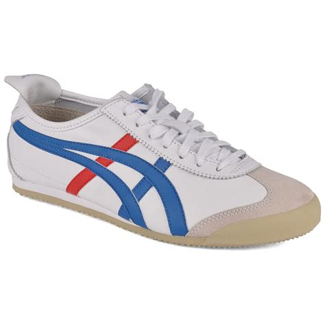 tiger sports shoes onitsuka tiger mexico 66 white blue womens trainers ebay