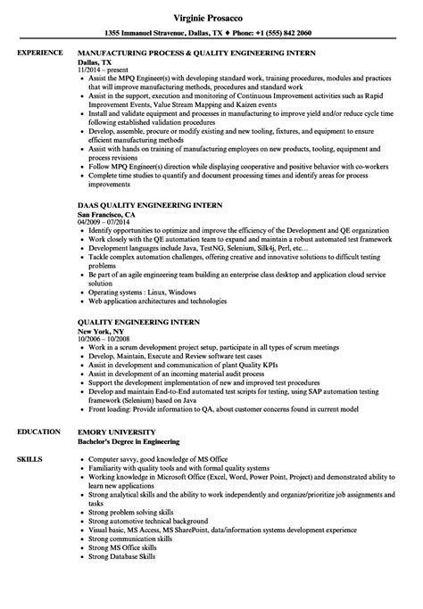 resume examples quality engineer resume ixiplay free resume samples