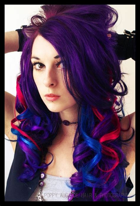 red hair with blue highlights black hair with blue streaks newhairstylesformen2014 com
