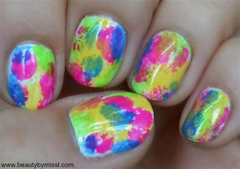 easy nail art bright colors easy nails design manicure with bright colors via