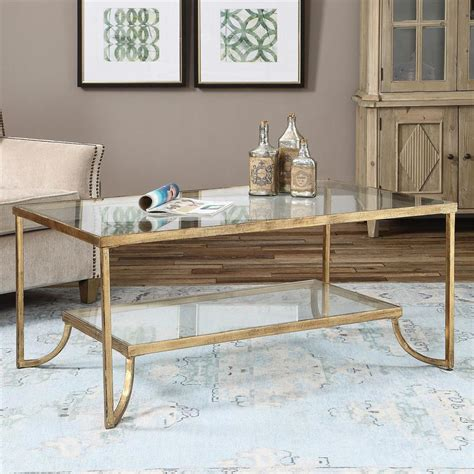 antique gold coffee madox modern classic antique gold leaf glass coffee table