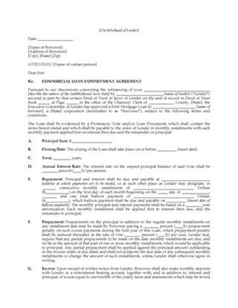 Commitment Letter In Real Estate Sle Letter Of Intent Business Transaction Contoh 36